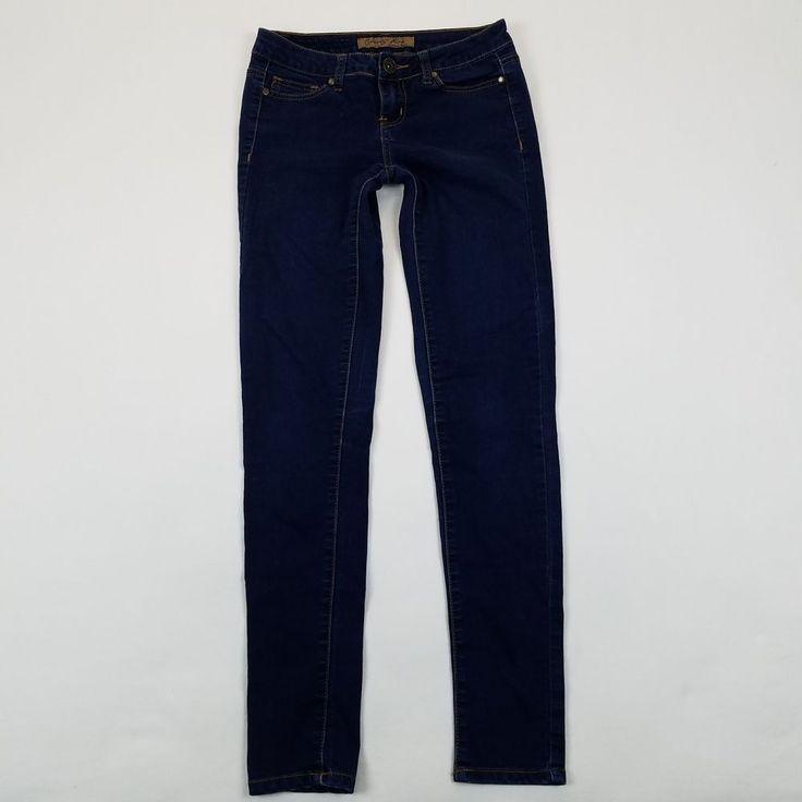 Celebrity Pink Skinny Jeans Size 3 Dark Wash Denim Junior's Pants B2 #CelebrityPink #SlimSkinny