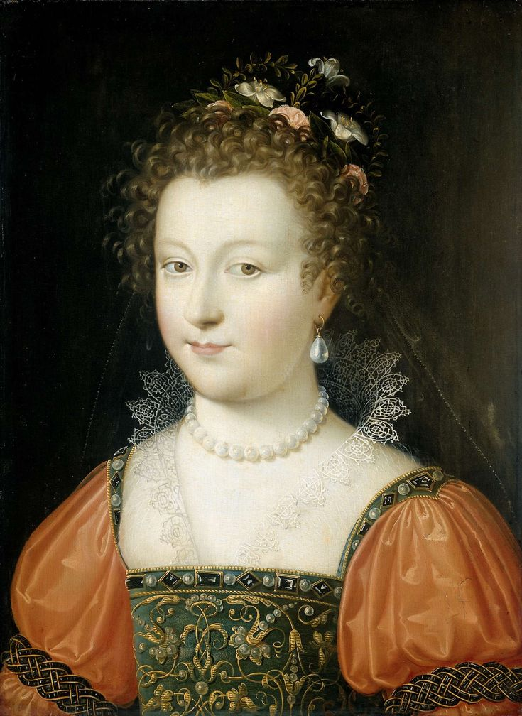 Portrait of a woman, by anonymous, 1550 - 1574 (Rijksmuseum, the Netherlands).