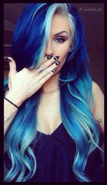 pretty blue mermaid hair