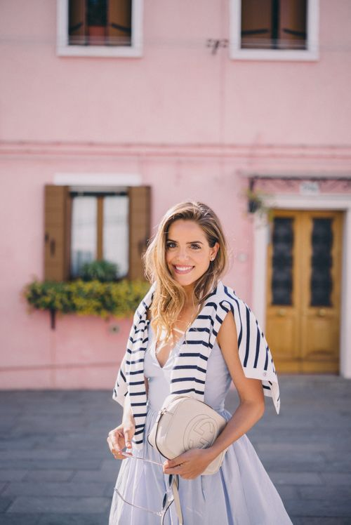 Gal Meets Glam Venice to Burano Island - SAU dress and Claude Pierlot sweater,