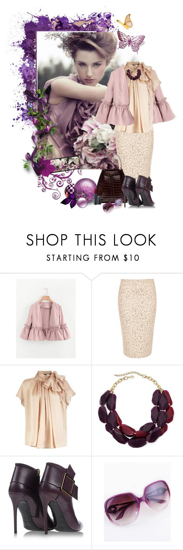 """""""Apricot & Aubergine"""" by fiery555 ❤ liked on Polyvore featuring River Island, Gianmarco Lorenzi, Summer, violet, summeroutfit, apricot and aubergine"""