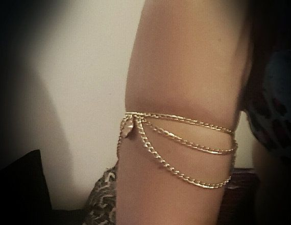 Grecian Gold ArmBand by BohoCollectiveDesign on Etsy