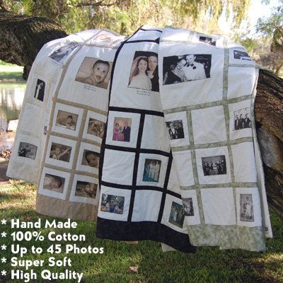 Instead of having a guest book we are having a sign in quilt...Then i going to take differnt peice of our wedding and put it on the blanket with all the signed squares. <3