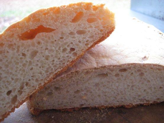 Make and share this Ciabatta (Crusty Slipper Bread) recipe from Genius Kitchen.