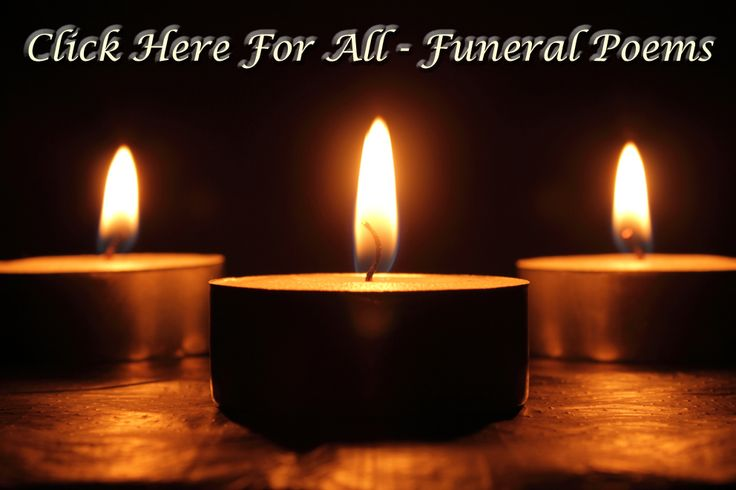 Sympathy Poems - Appropriate For Cards & Funerals. BEST ...