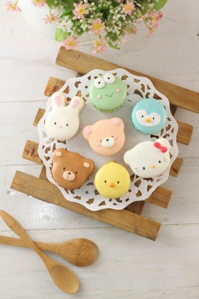 cute macarons for baby shower or kid's birthday