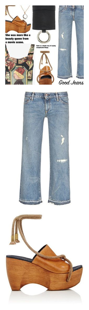 """SIMON MILLER"" by shoaleh-nia on Polyvore featuring Simon Miller, Rebecca Pinto, jeans, blue, simon miller jeans, frayed-cuff jeans, cuffed jeans, frayed-hem jeans, cuff jeans and shoes"