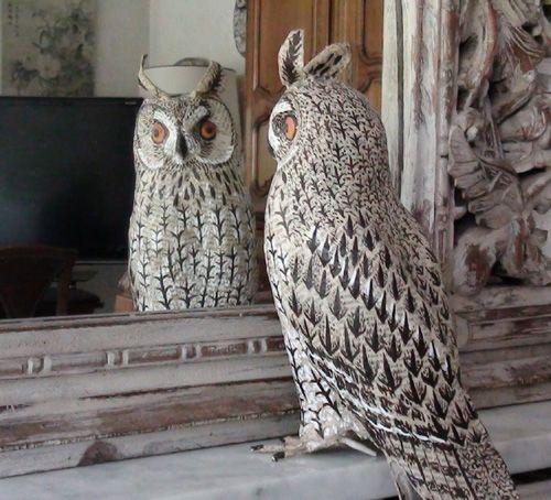 Anne lise koehler owl paper mache sculpture i heart owl for Diy paper mache owl