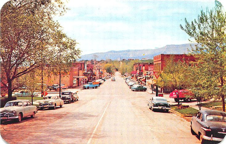 Rifle CO Street View Store Fronts Oil Truck Trucks  Old Cars Postcard