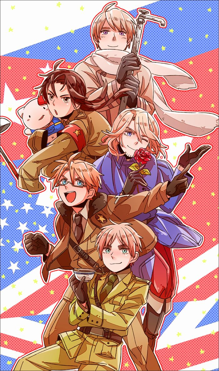 The Allies. Russia he is just too cute. Glad you summoned him instead of cursing America, England.