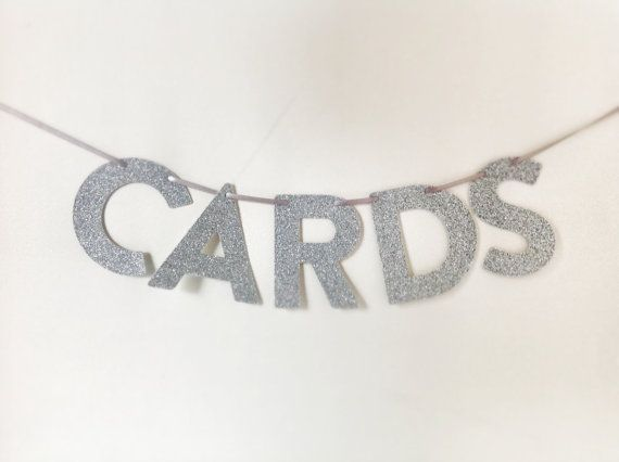 CARDS Glitter Mini Banner for Wishing Well by CreativePapier, $10.00