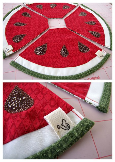 WATERMELON COASTERS ☆ by Patchwork Daily Desire, via Flickr