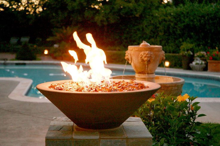 1000 images about fire bowls or fire pits on pinterest - Pool fire bowls ...