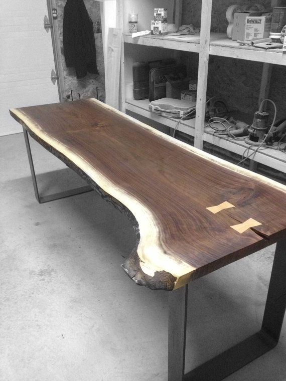 Live Edge Black Walnut Dining Table And Office Desk