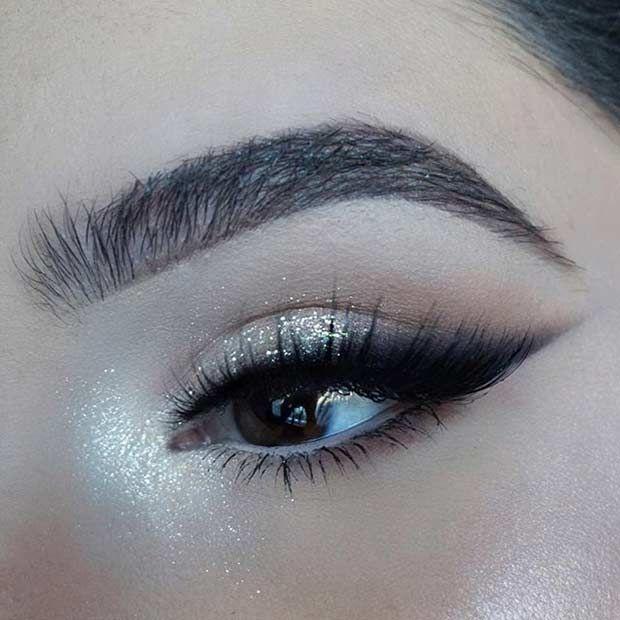 Glitter + Smokey Winged Eyeliner