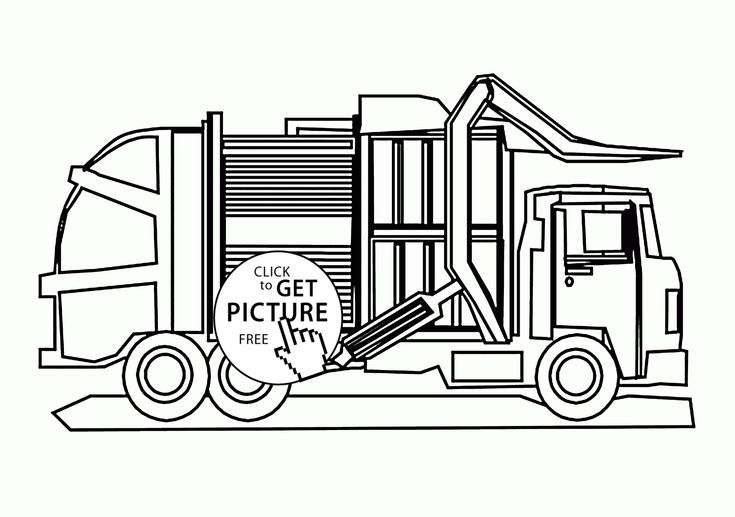 Cool Garbage Truck Coloring Page For Kids Transportation