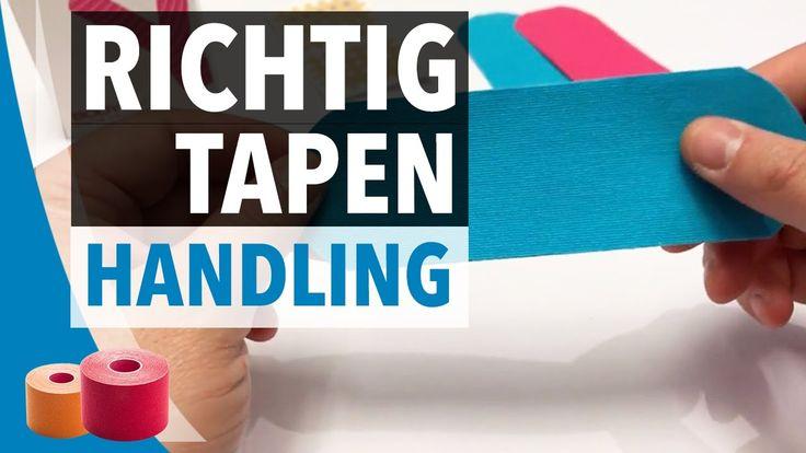 KINESIOLOGIE TAPING: Handling - Backpaper richtig tapen