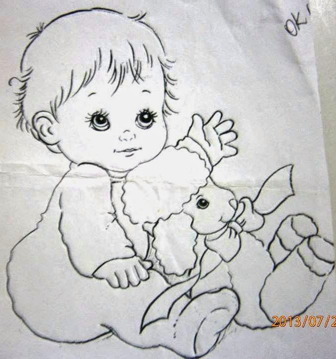 Pintura em tecido pintura em tela riscos e desenhos para - Dibujos para sabanitas de bebe ...