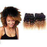Emmet 2pcs/lot 100g Short Wave 8Inch Brazilian Kinky Curly Human Hair Extension (1B#/27#)