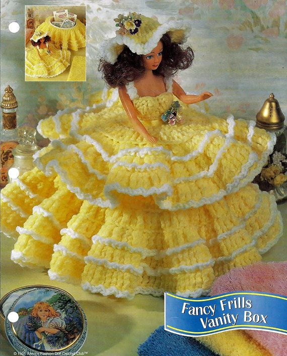 Fancy Frills Vanity Box Fashion Doll Crochet Pattern