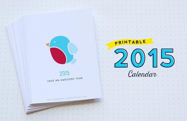 FREE Printable 2015 Calendar Year of Colour | DESIGN IS YAY!