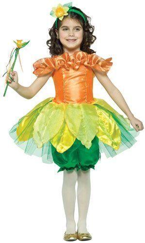 Daffodil Flower Child Costume 4-6x | DD's flower Costume ...