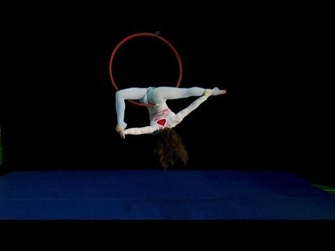 Sail - enchanting moody aerial hoop routine by Gaby Fleming, circus aerial dance performance