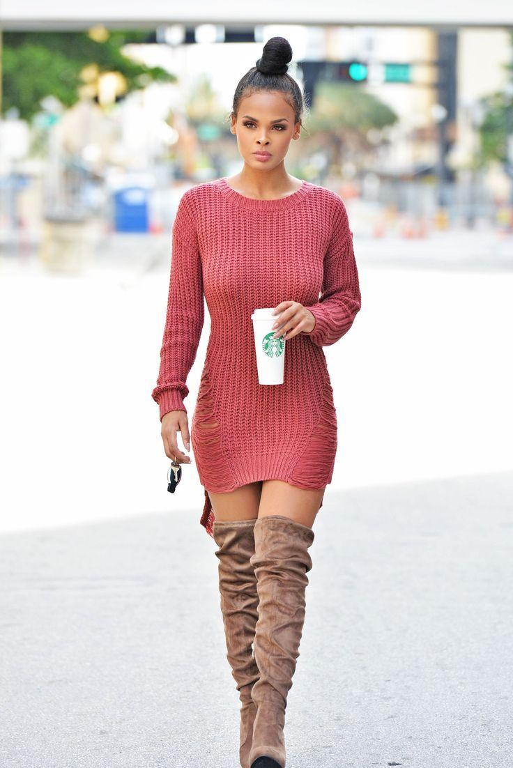 Cool 34 Outfit für Frauen, die gut aussehen mit Stiefeln Pullover Kleider 99outfit.com