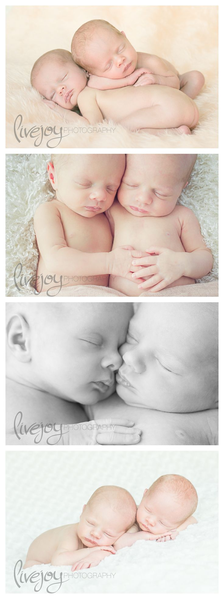 Twin Newborn Photography Session -- LiveJoy Photography #twins #Newborn #LiveJoyPhotography