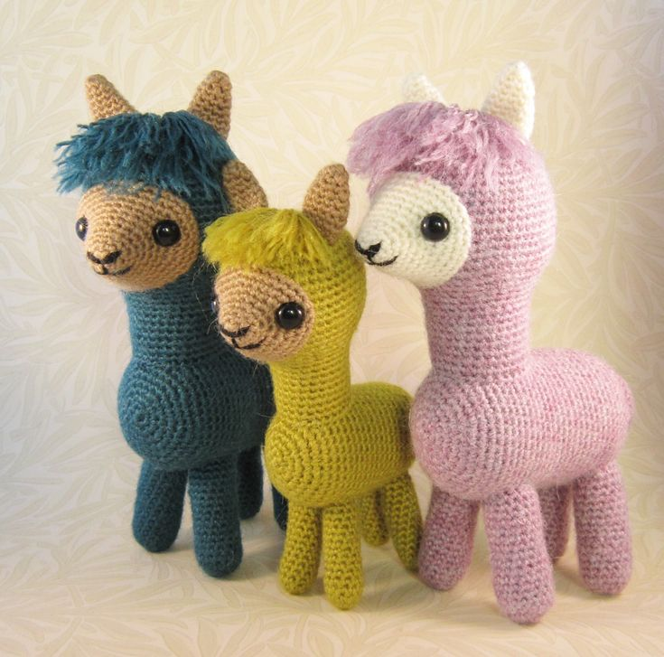 Alpaca Family Amigurumi By Lucy Collin - Purchased Crochet Pattern - (ravelry)