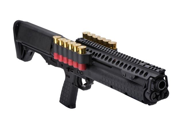 The Kel-tec KSG is an absolutely perfect design for law enforcement application. I want one. :P