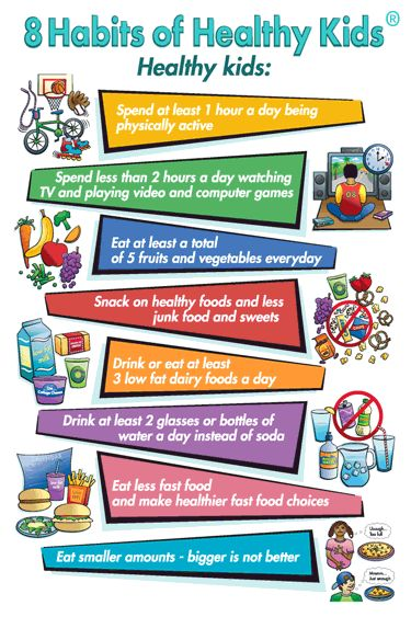 8 Habits of Healthy Kids - The Healthy Children Healthy Futures program!