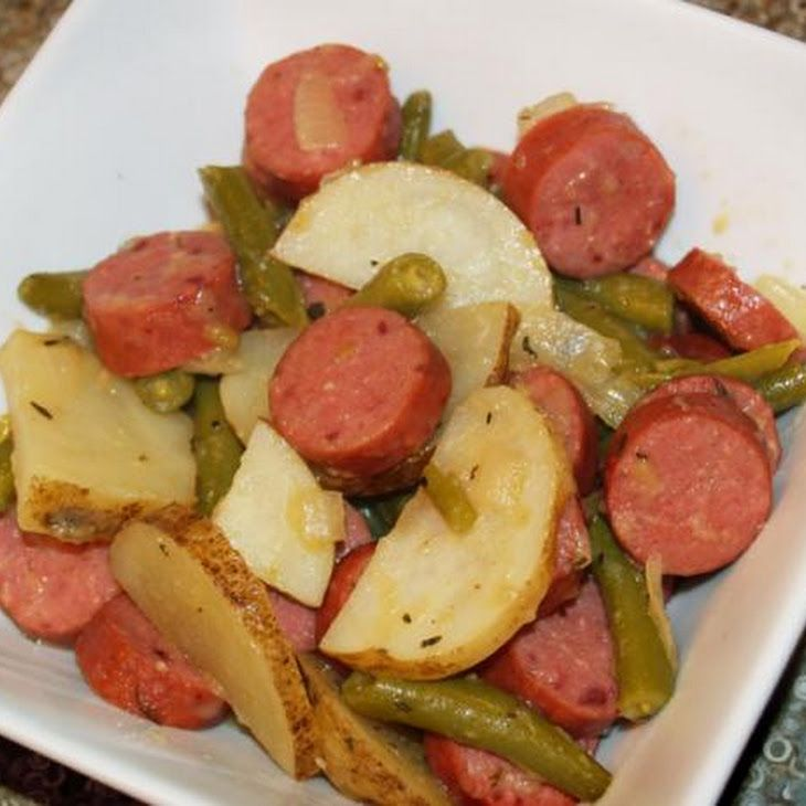 how to cook sausages and potatoes