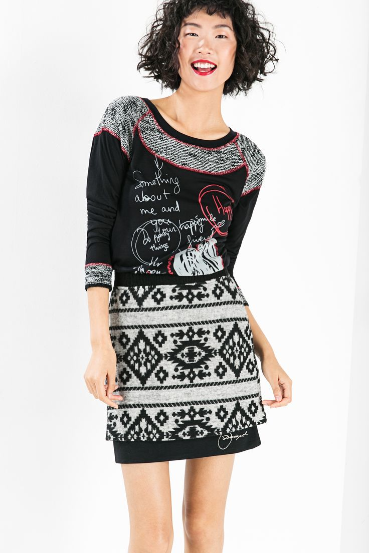 """Get your legs out this autumn with this super flattering ethnic print miniskirt. Our AW15 collection is all about saying """"YES"""" and how could you say anything else to this skirt?!"""