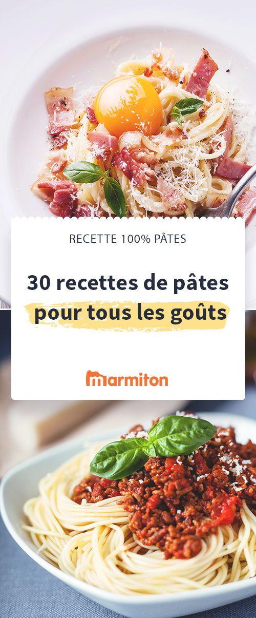 Pour changer des pâtes au beurre, testez notre sélection de recettes de pâtes #marmiton #recettespâtes #pâtes #carbonara #bolognaise