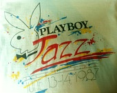I can't believe it!!!!!!   I designed this!!!!!    RARE Vintage 1987 Playboy Jazz Festival T SHIRT