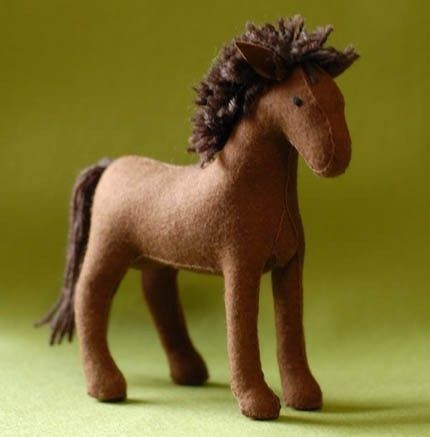 Just like the horse my mom made for one of the girls last Christmas (and my dad…