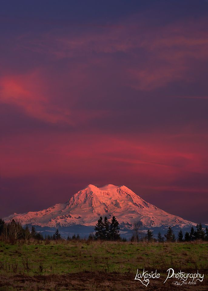 Mt Rainier's first sunset of 2015 Pacific Northwest, Mt Rainier Sunsets, http://www.lakesidephotographyby-tinaarnold.com/Landscapes/