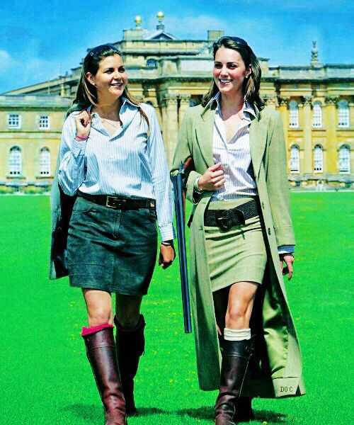 A lesser seen photograph of Catherine Middleton whilst modeling for Really Wild Clothing at Blenheim Palace Game Fair, July 24th, 2004.