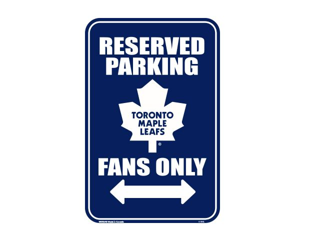 Real Sports Apparel - Mustang Toronto Maple Leafs Parking Sign