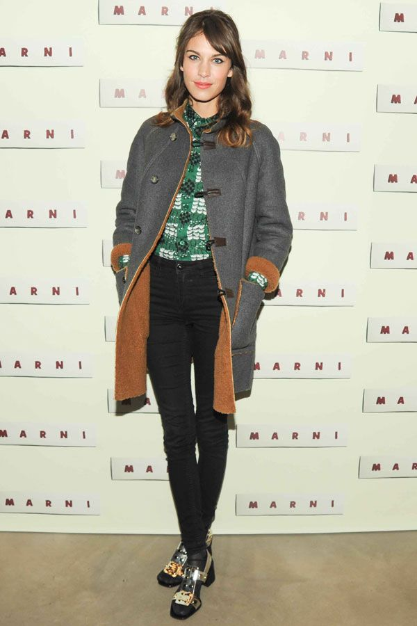 Love Alexa Chung's outfit, but can't stop staring at the shoes!