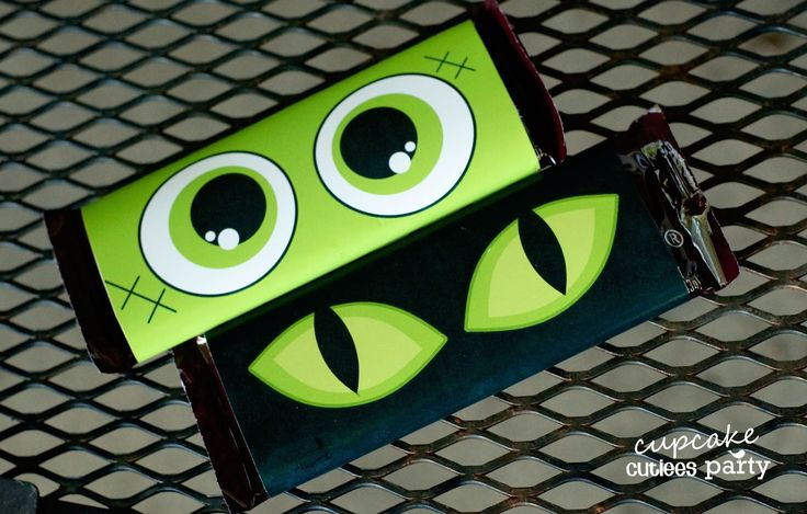 diy hershey candy bars | Halloween EYE CANDY- Candy Wrapper Labels Tutorial - Party Store