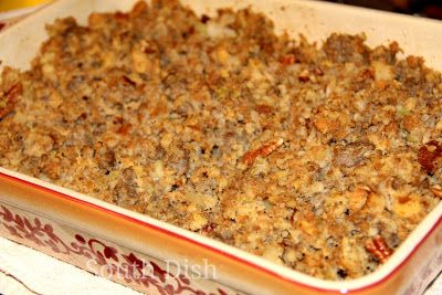 Sausage Dressing With Apple And Pecan Pecans Cornbread