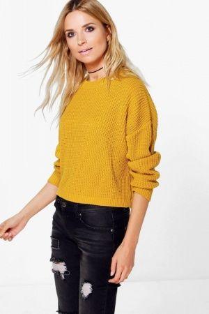 women-jumpers-sweaters-boohoo-drop-shoulder-chunky-crop-jumper.jpg (300×450)