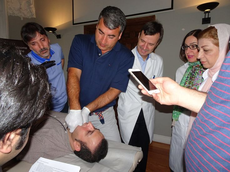 Check out here how Dr Pourgol is teaching TMJ techniques to Doctor of Physical Therapy (DPT) students of National University of Medical Sciences (Spain) in Madrid.  #osteopathy #osteopathicschool #osteopathyschool #numss
