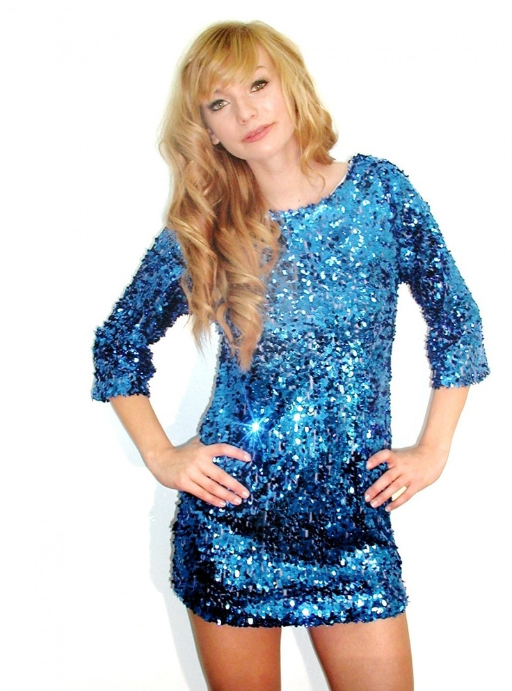 8 best blue sequin sparkle glitter nye party holiday dresses