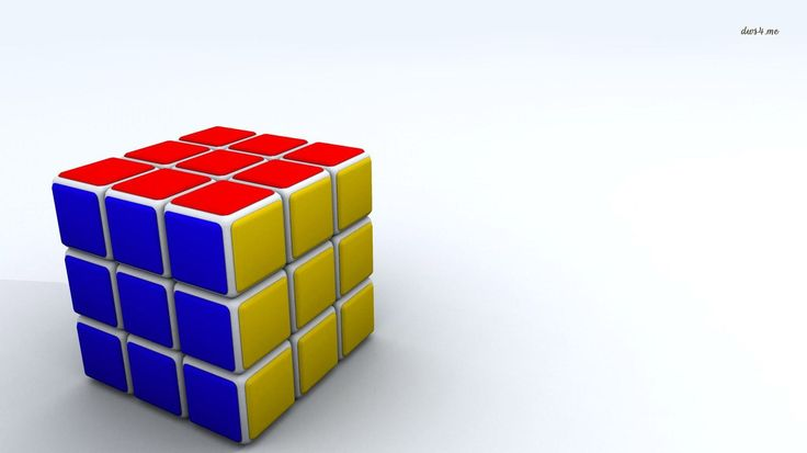 1366x768 HD Widescreen rubiks cube