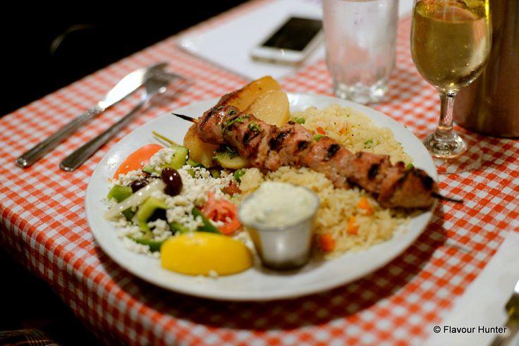 Pork #souvlaki at Stepho's Souvlaki Greek Taverna on Davie St. in #Vancouver