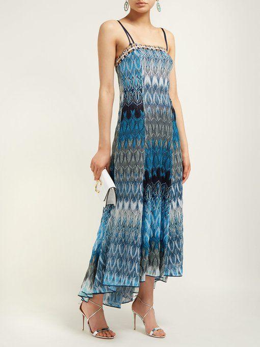 0e2f7ec29 MISSONI Metallic leaf-knitted midi dress | Vintage dresses/skirts in ...