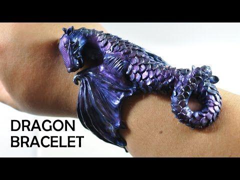 ▶ Dragon Cuff Bracelet - polymer clay TUTORIAL - YouTube